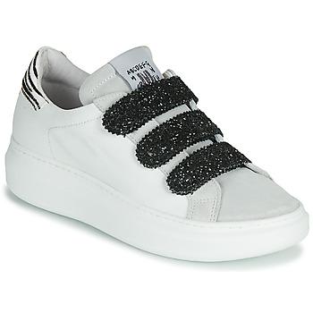 Chaussures Femme Baskets basses Meline SCRATCHO Blanc / Glitter