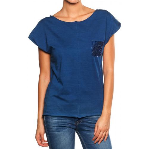 Vêtements Femme T-shirts manches courtes Le Temps des Cerises T-shirt  Akiko bleu