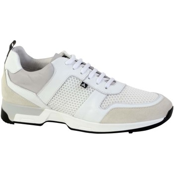 Chaussures Homme Baskets basses Azzaro Basket ROSARIO Gris/Blanc