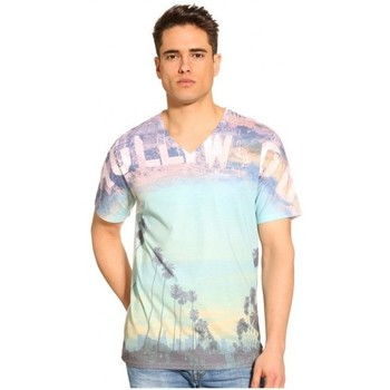 Vêtements Homme T-shirts manches courtes Guess T-Shirt  Hollywood blanc