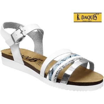 Chaussures Femme Sandales et Nu-pieds K. Daques Denia Blanc