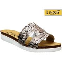 Chaussures Femme Claquettes K. Daques Deba Gris