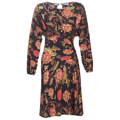 Derhy Banquise Noir / Multicolore - Livraison Gratuite- Vêtements Robes Courtes Femme 7599