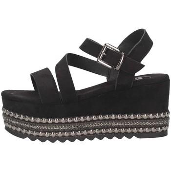Chaussures Femme Sandales et Nu-pieds Exé Shoes Exe' MACAU-736 BLACK Sandales Femme Noir Noir