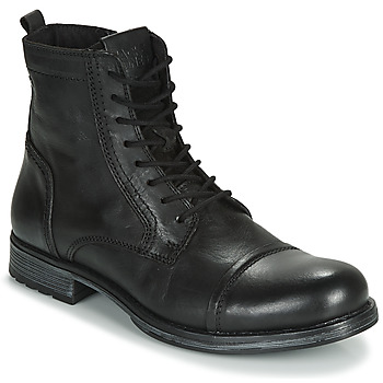 Chaussures Homme Boots Jack & Jones JFW RUSSEL LEATHER Noir