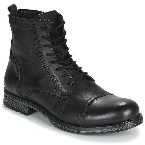 Jack & Jones JFW RUSSEL LEATHER Noir - Livraison Gratuite | Spartoo ! - Chaussures Boot Homme 71,99 €