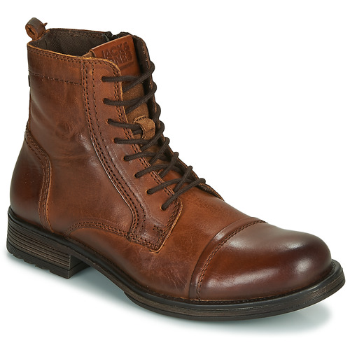 Chaussures Homme Boots Jack & Jones JFW RUSSEL LEATHER Cognac