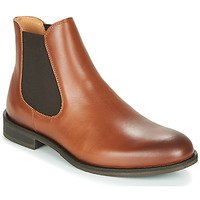 Chaussures Homme Boots Selected LOUIS LEATHER CHELSEA Cognac