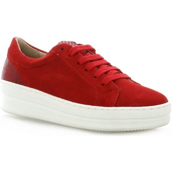 Chaussures Femme Baskets basses So Send Baskets cuir velours rouge