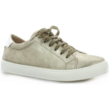 Chaussures Femme Baskets basses So Send Baskets cuir laminé Or