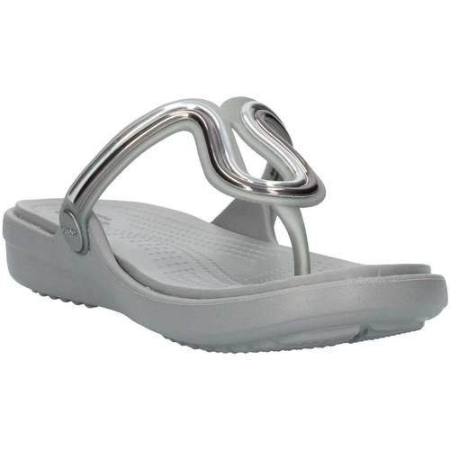 205470 Chaussures Tongs Femme Crocs Gris bgfYy76v