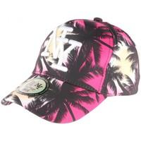 Accessoires textile Casquettes Hip Hop Honour Casquette NY Rouge et Noire Baseball Fashion Tropical Rouge