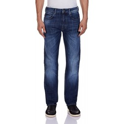 Vêtements Homme Jeans droit G-Star Raw Jeans G Star Attacc Straight Blue Delm Stretch Denim Dark Aged bleu