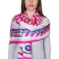 Accessoires textile Homme Echarpes / Etoles / Foulards Allée Du Foulard Etole soie Reina Fuchsia