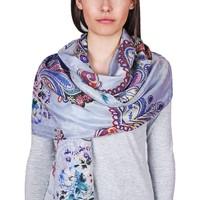 Accessoires textile Femme Echarpes / Etoles / Foulards Allée Du Foulard Etole soie Varanasi Bleu