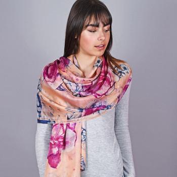 Accessoires textile Femme Echarpes / Etoles / Foulards Allée Du Foulard Etole soie SaliFlor rose