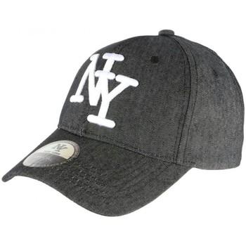 Accessoires textile Casquettes Hip Hop Honour Casquette NY Denim Grise Jeans classe Baseball Boston Gris