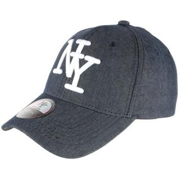 Accessoires textile Casquettes Hip Hop Honour Casquette NY Blue Jean Denim classe Baseball Boston Bleu