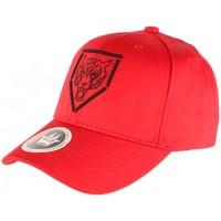 Accessoires textile Casquettes Hip Hop Honour Casquette Baseball Rouge Tete de Tigre Streetwear en coton Rouge