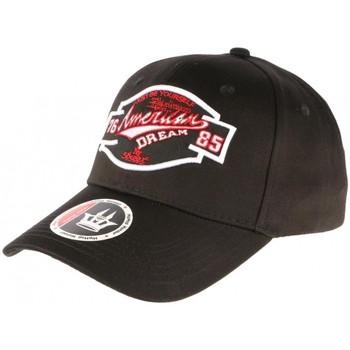 Accessoires textile Casquettes Hip Hop Honour Casquette Baseball Noire et Rouge NY American Dreamer Noir