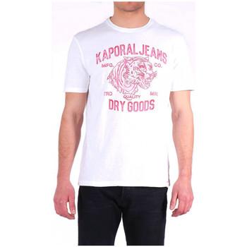 Vêtements Homme T-shirts manches courtes Kaporal T-shirt Homme PINTO Blanc Motifs Tigre Rouge Blanc