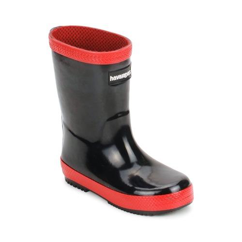 Chaussures Enfant Bottes de pluie Havaianas RAIN BOOTS Noir / Rouge