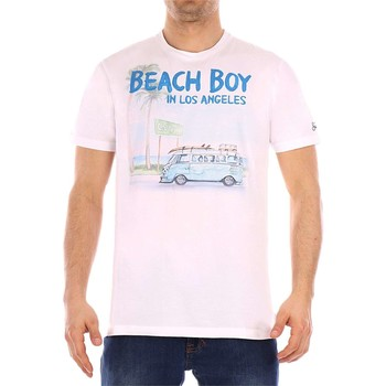 Vêtements Homme T-shirts manches courtes Mc2 Saint Barth BEACH BOY T-shirt homme blanc blanc