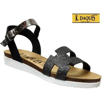 Chaussures Femme Sandales et Nu-pieds K. Daques Delta Noir