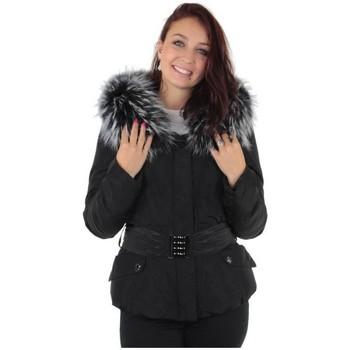 Vêtements Femme Doudounes Pallas Cuir Doudoune  sélection Zora ref_ely35910-noir noir