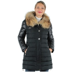 Vêtements Femme Doudounes Giorgio Cuirs Doudoune en cuir Giorgio ref_gio35432-noir Noir