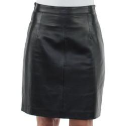 Vêtements Femme Jupes Giorgio Cuirs Jupe Giorgio Lilo Waxy en cuir ref_gio35566-noir Noir
