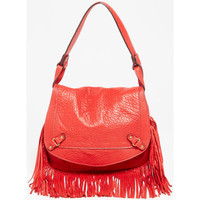 Sacs Femme Besaces Abaco Paris MINI JAMILY FRANGES ROUGE