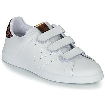 Chaussures Femme Baskets basses Victoria TENIS VELCRO PIEL Blanc