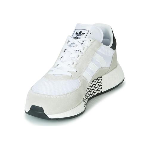 Baskets Blanc Chaussures Tech Basses Adidas Originals Marathon 0OPkX8nw