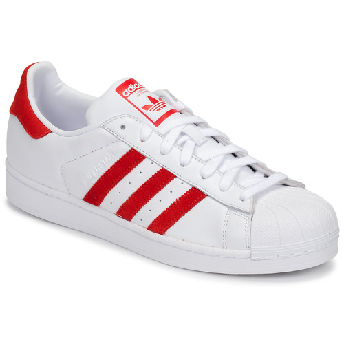 Chaussures Baskets basses adidas Originals SUPERSTAR Blanc / rouge