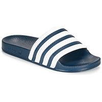 Chaussures Claquettes adidas Originals ADILETTE Bleu / blanc