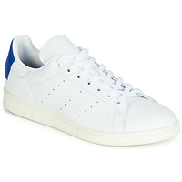 Chaussures Baskets basses adidas Originals STAN SMITH Blanc / Bleu Carré