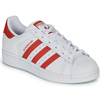 Chaussures Enfant Baskets basses adidas Originals SUPERSTAR J Blanc / rouge