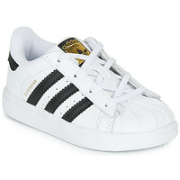 Chaussures Enfant Baskets basses adidas Originals SUPERSTAR I Blanc / noir
