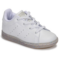 Chaussures Fille Baskets basses adidas Originals STAN SMITH EL I Blanc / Glitter