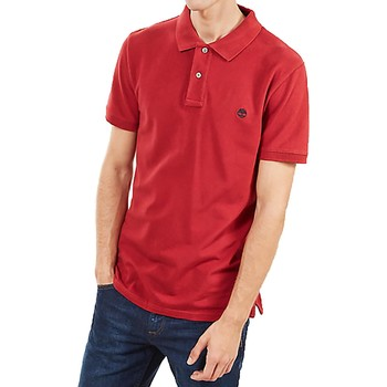 Vêtements Homme Polos manches courtes Timberland SS STRTCH PIQUE ROSSA Rouge
