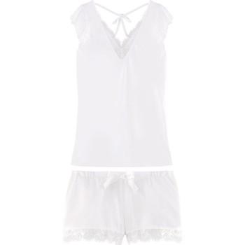 Vêtements Femme Pyjamas / Chemises de nuit Pommpoire Top + short ivoire Dallas Blanc