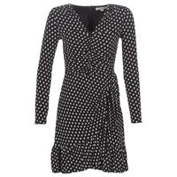 Vêtements Femme Robes courtes MICHAEL Michael Kors ELV DOT SHRD LS DRS Noir
