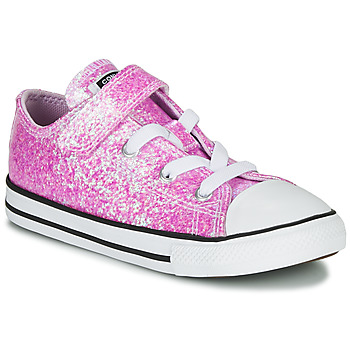 Chaussures Fille Baskets basses Converse CHUCK TAYLOR ALL STAR COATED GLITTER 1V - OX Pink