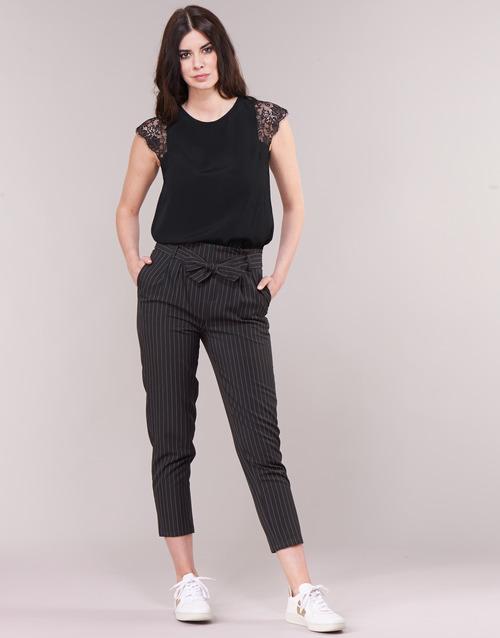Vêtements Femme Pantalons 5 poches Betty London LAALIA Noir / Blanc