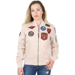 Vêtements Femme Blousons Top Gun Blouson Bombers  ref_46185 Rose Rose