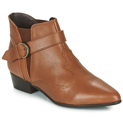 Chaussures Femme Boots Betty London LYDWINE Cognac