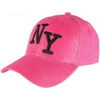 Accessoires textile Femme Casquettes Hip Hop Honour Casquette Trucker Rose NY Noir Look Ete Fun Baseball Liak Rose