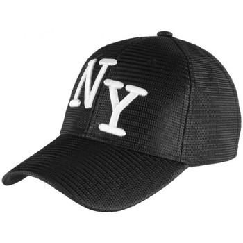 Accessoires textile Casquettes Hip Hop Honour Casquette Trucker Noire NY Blanc Look Ete Fun Baseball Liak Noir