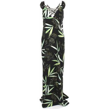 Vêtements Femme Robes longues Guess Robe longue noir imprimé végétal W82K11 38